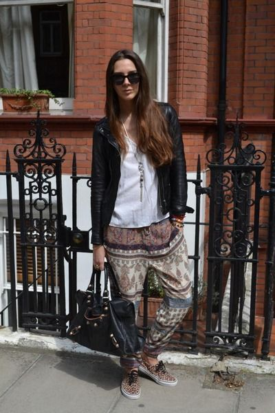Paisley print harem trousers