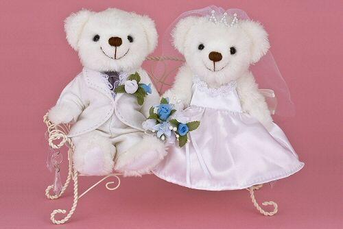 WM-0904 ブーケブルーベア完成品<シェリーマリエ・ウェルカムアニマルコーナー> http://www.tedukuri-wedding.com/mall/bear/kansei/clover/wn0904.html