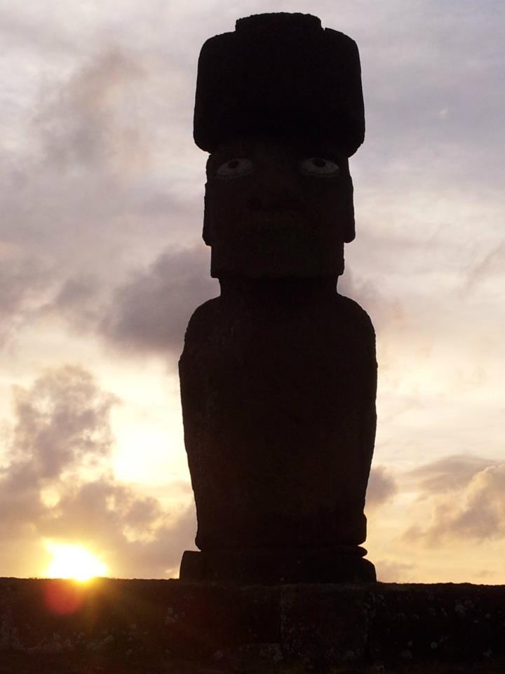 Sunsetazo en Ahu Ke Te Riku