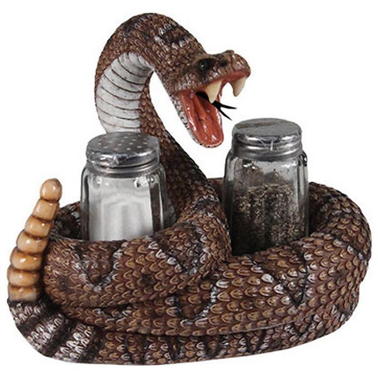 Diamondback Rattlesnake Salt & Pepper Shakers 576 | Buffalo Trader Online