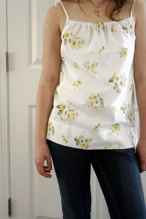 Pillowcase Tank Top ...i have been looking for this for awhile...so cute and seems easy to make