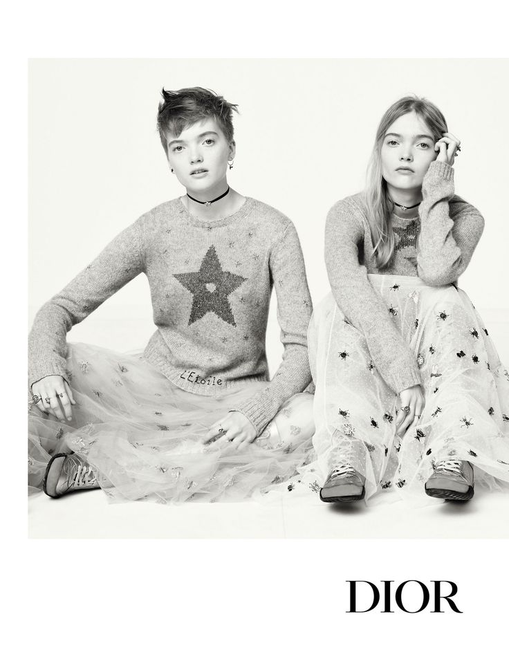 Dior SS17 Campaign-The first protagonists of this series of photographs depicting different women photographed by other women are the twins Ruth and May Bell