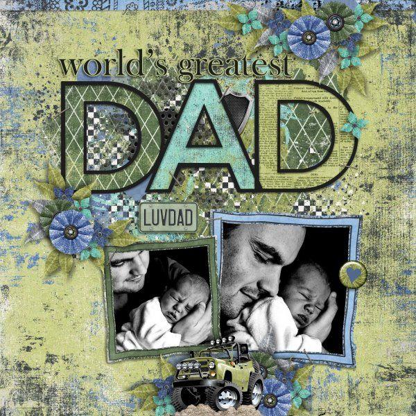 Kit Driven Like Dad by Jumpstart Designs. Template Making Memories #10 by Heartstrings Scrap Art.