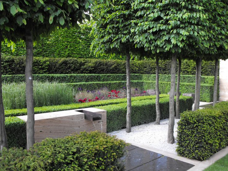 Gorgeous formal contemporary garden by Luciano Giubbilei