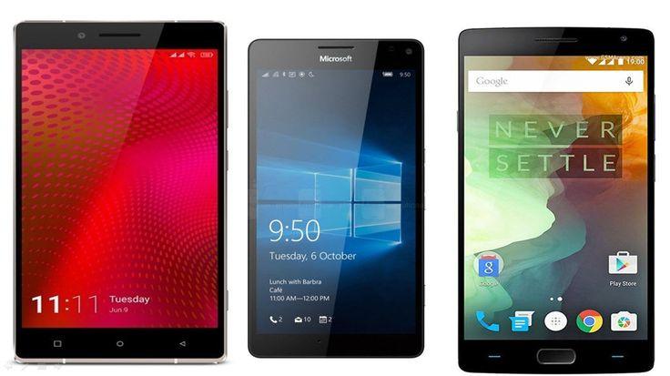 Gionee Elife E8 vs Microsoft Lumia 950 Windows 10 vs OnePlus 2