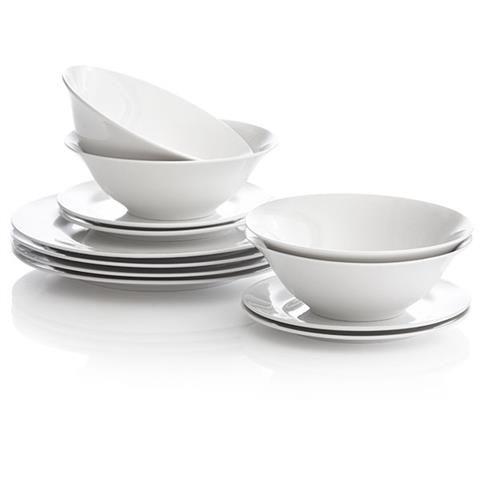 Homemaker White Rimmed Dinner Set - 12 Piece | Kmart