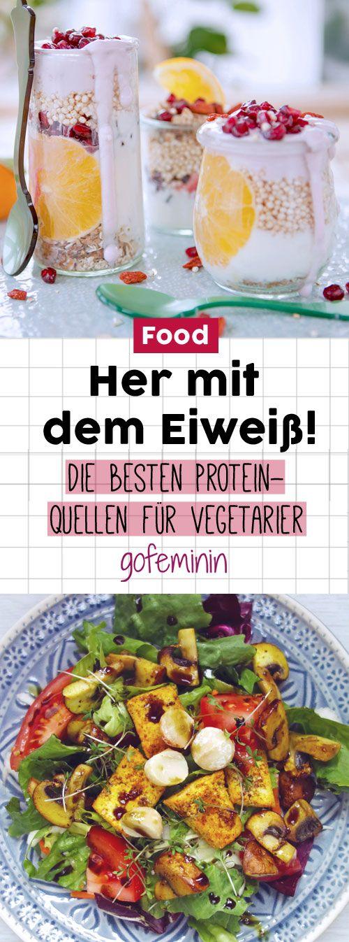 Über diese Lebensmittel können auch Vegetarier genug Eiweiß aufnehmen - die braucht ihr unter anderem für den Muskelaufbau.