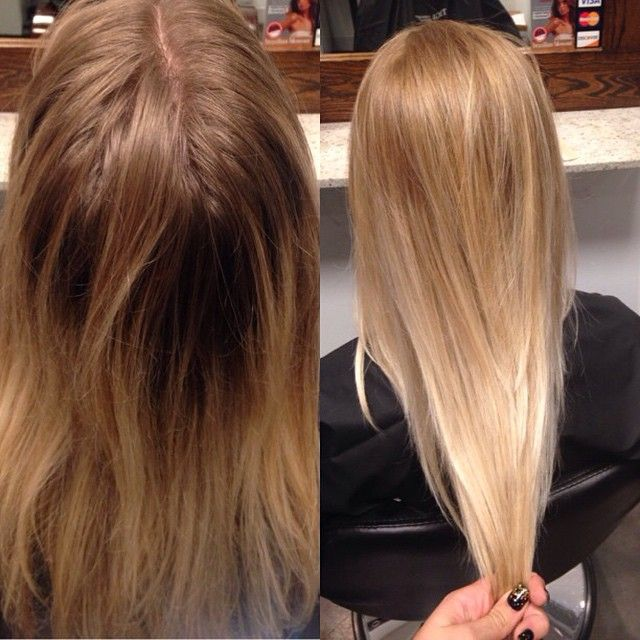 Before And After Using Olaplex Beautiful Fade To Blonde