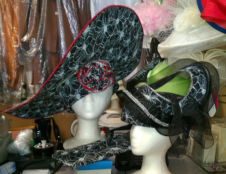 Take your choice - these beautiful hats are both custom made by Sheila!: Sheila Beautiful, Beautiful Hats