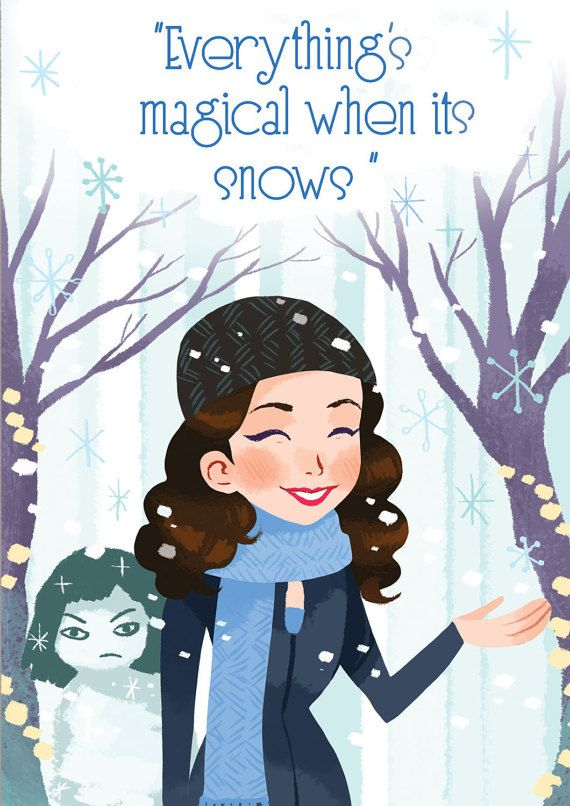 An other Gilmore related illustration...this time I wanted to design something special for the holiday season. I love Lorelais and her special