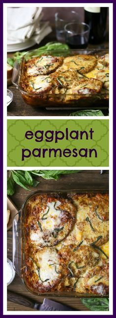 Tender breaded eggplant, layered with sauce and cheese and baked until bubbly...hello Sunday dinner.