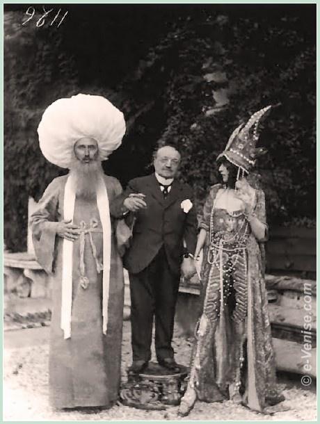 Le peintre Giovanni Boldini et la marquise Casati à la Ca Venier dei Leoni en 1913