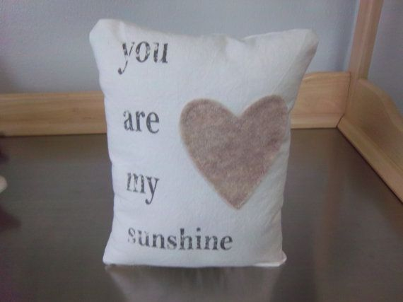 You are my sunshine throw pillow handmade by SweetMeadowDesigns
