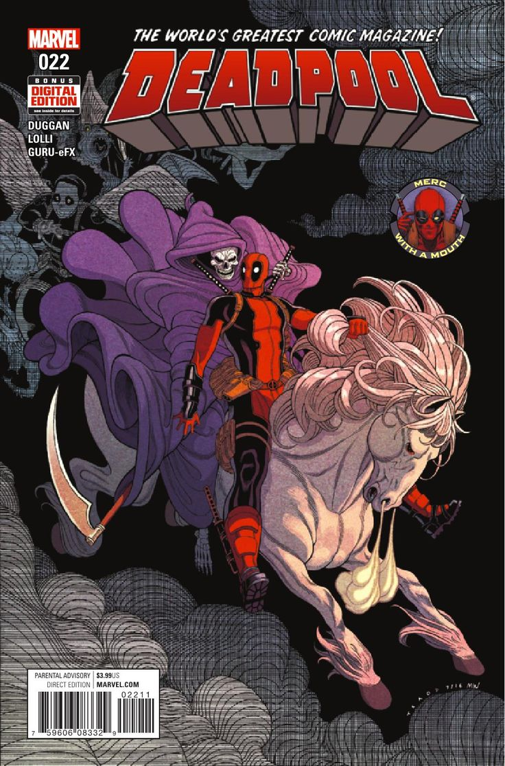 Deadpool - by Story: Gerry Duggan Art: Matteo Lolli Cover: Tradd Moore Publisher: Marvel Publication Date: November 16th, 2016 Price: $3.99 Has Madcap finally orchestrated the perfect revenge on Deadpool? Has he really found a way to kill Wade once and for all? Or…could it actually be WORSE than that?°°