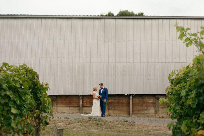 Shed wedding photo captured by Sarah Godenzi @ Yarra Ranges Estate