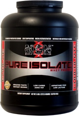 Pure Whey Protein Isolate. Delicious! Flavor examples: Cinnamon Bun and Cake Batter! Great for breakfast crepes or healthy French Toast!