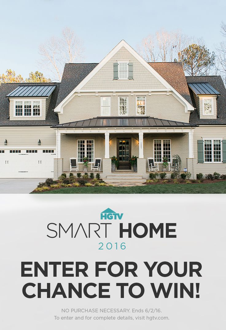 Hgtv Smart Home 2016 Could Be Yours Enter For A Chance To Win This Stunning Tech Smart Home In
