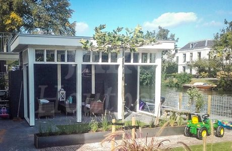 17 best images about houten veranda overkapping on pinterest models we and atelier - Eigentijds tuinmodel ...