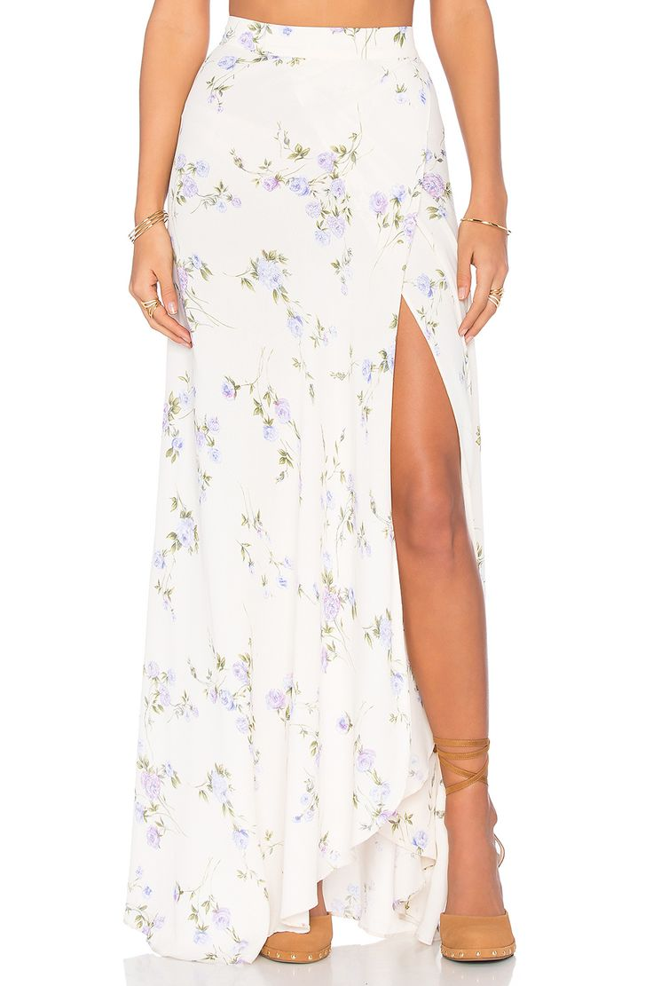 FLYNN SKYE Wrap It Up Maxi Skirt em Lavender Skye   REVOLVE
