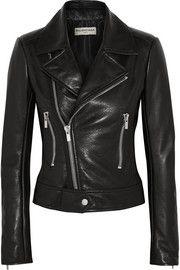 BalenciagaLeather biker jacket