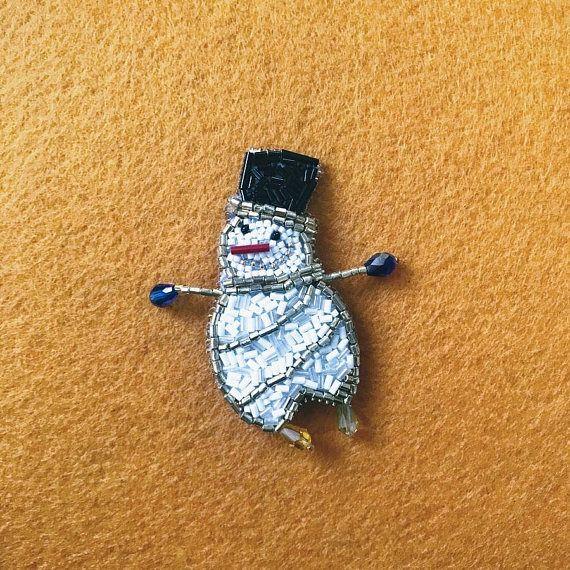 Snowman broochChristmas BroochXmas BroochChristmas