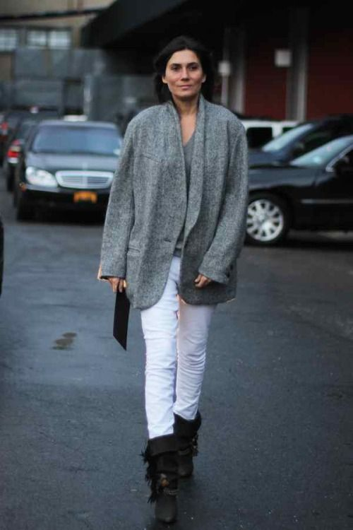 Emmanuelle Alt in Isabel Marant off duty daywear