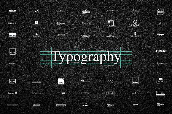 [64% off] 50 UNIQUE Typography Logos by Congruent Graphics on @creativemarket
