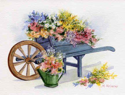 'Flower Cart' by Maureen McCarthy