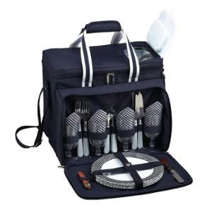Bold Picnic Cooler for 4. Full set of plates & such for 4, plus separate compartments for food.