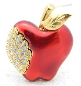 Vintage Napier apple brooch/pin.