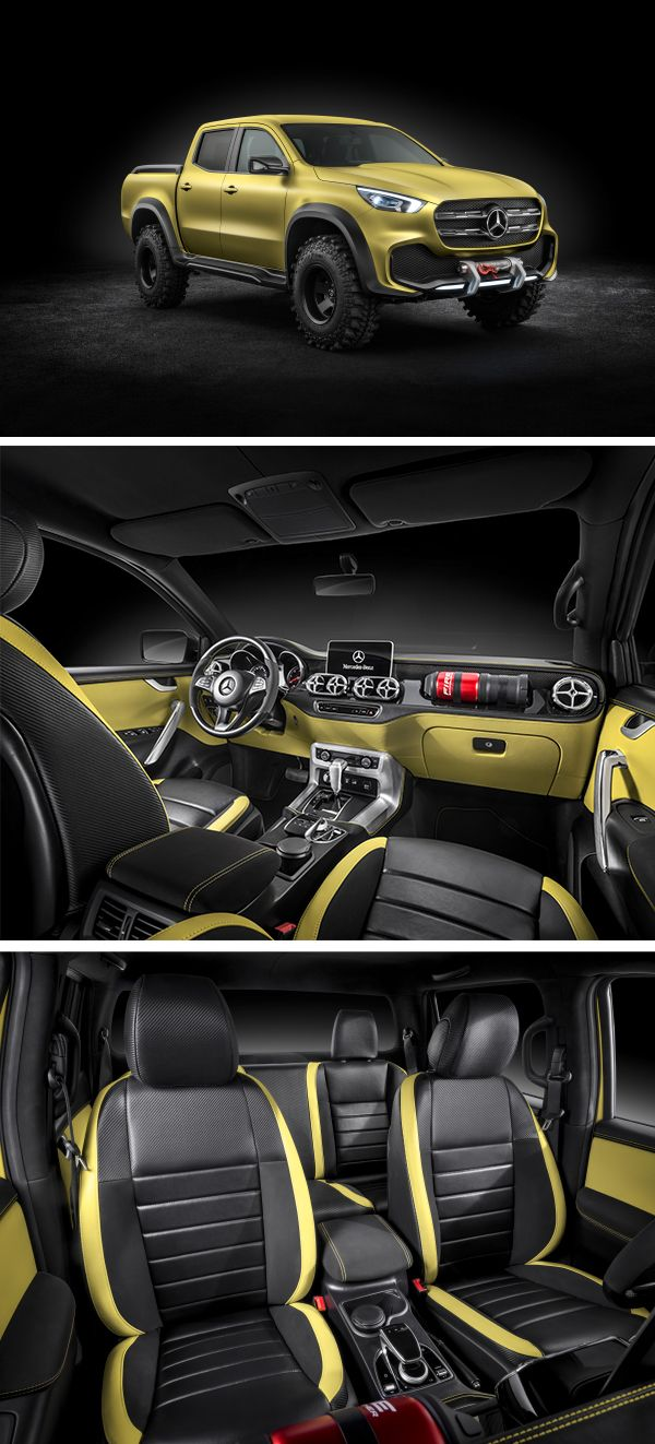 The Concept X-CLASS powerful adventurer illustrates that the future X-Class will possess all the strengths of a classic pickup – tough, functional, strong, and with off-road capability.