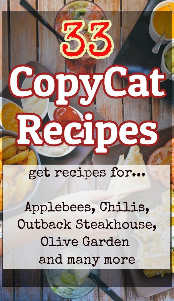 33 printable restaurant copycat recipes