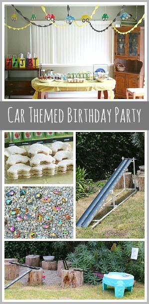 Homemade car ramps, cute car decor, and fun car-themed activities! (Car Themed Birthday Party)~ Buggy and Buddy