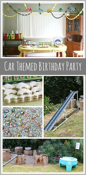 Car Themed Birthday Party: Including car decorations, car treat bags, car treats, car activities and more! ~ BuggyandBuddy.com