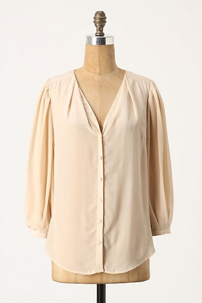 Anthropologie Puckered Blouse