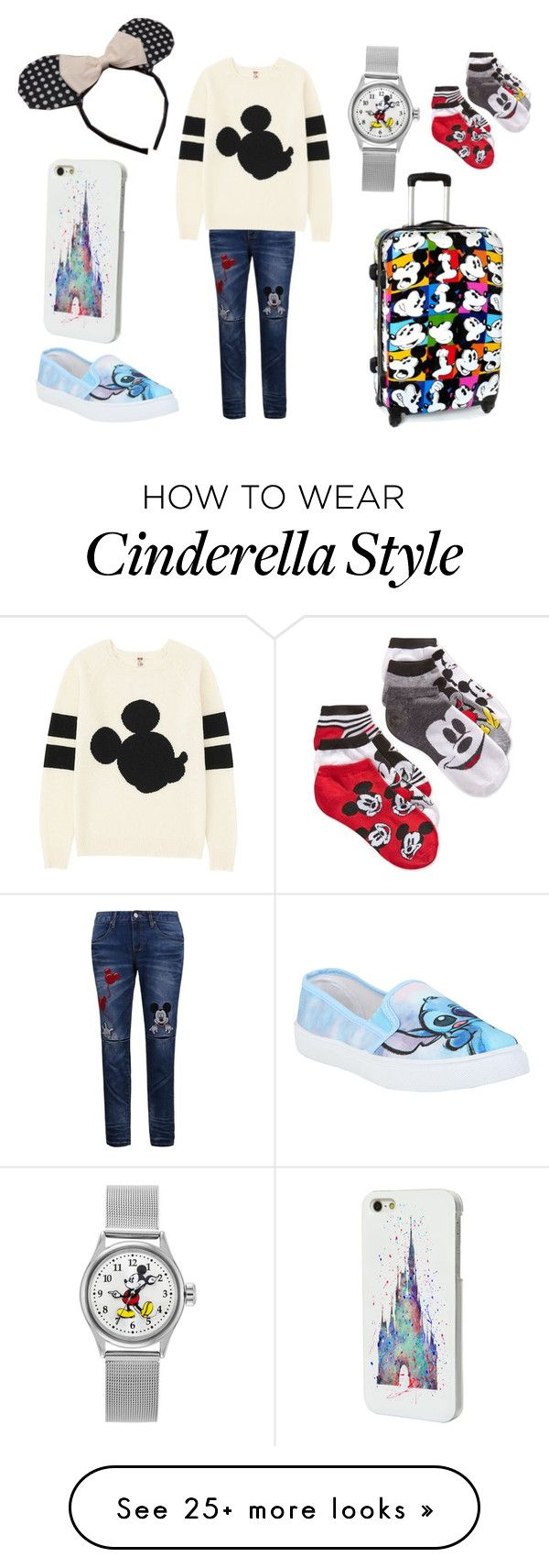 """Traveling disney style"" by madeleineunicorn on Polyvore featuring Disney and Uniqlo"