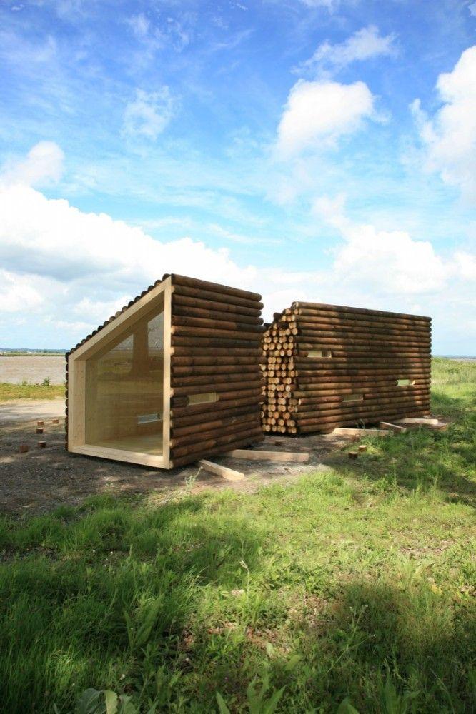 Portable Prefab Version of a Classic Log Cabin
