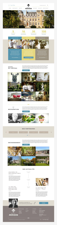 Refonte graphique et ergonomique du site web du Château de Méridon : Conception d'une interface web multi-supports, 'Responsive'.