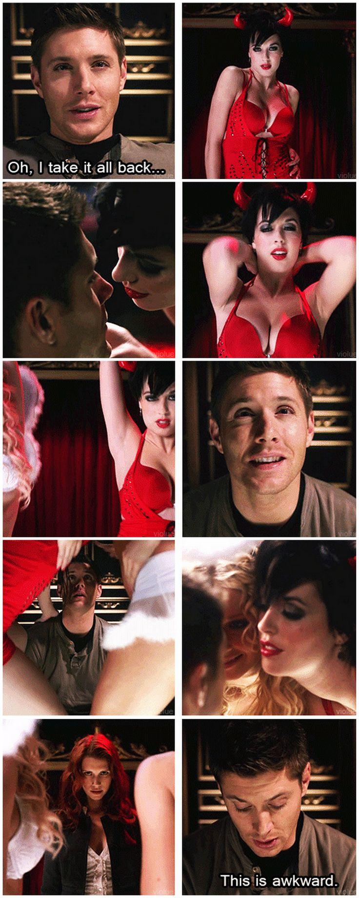 [gifset] LOL 5x13 The Song Remains The Same #SPN #Dean #Anna