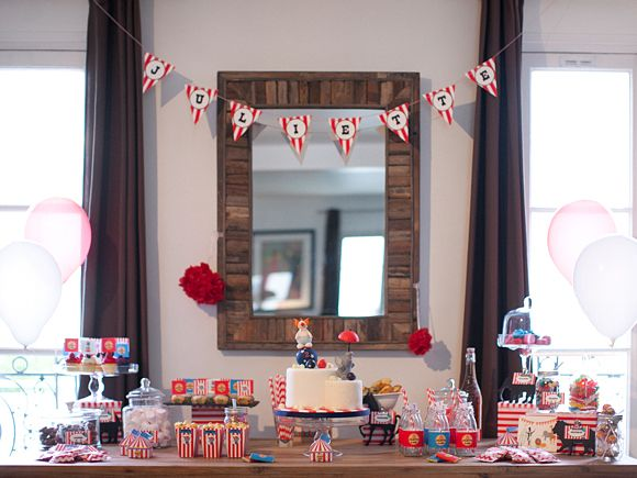 L'anniversaire de Juliette – 2 ans ! thème cirque, circus, birthday kid, sweet table