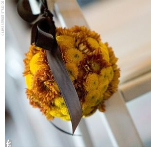 Ceremony Decor: Wedding, Color Mums, Persimmon Color, Fall Color Flower