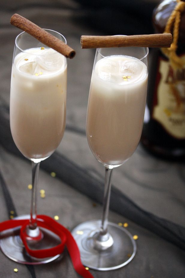 eggnog cocktail.