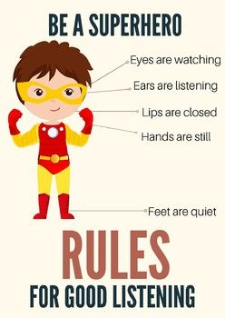 Hi Everyone! This is a FREE poster package with three Posters for Good Listening Skills. Includes: * Superhero * Princess * Builder Use it in your classroom, home or therapy room. This package was created using images from the same artist. Please visit their