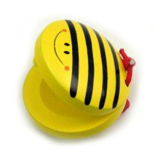 Small, yellow bee castanet.