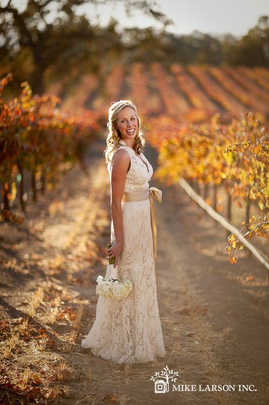 country bride in autumn