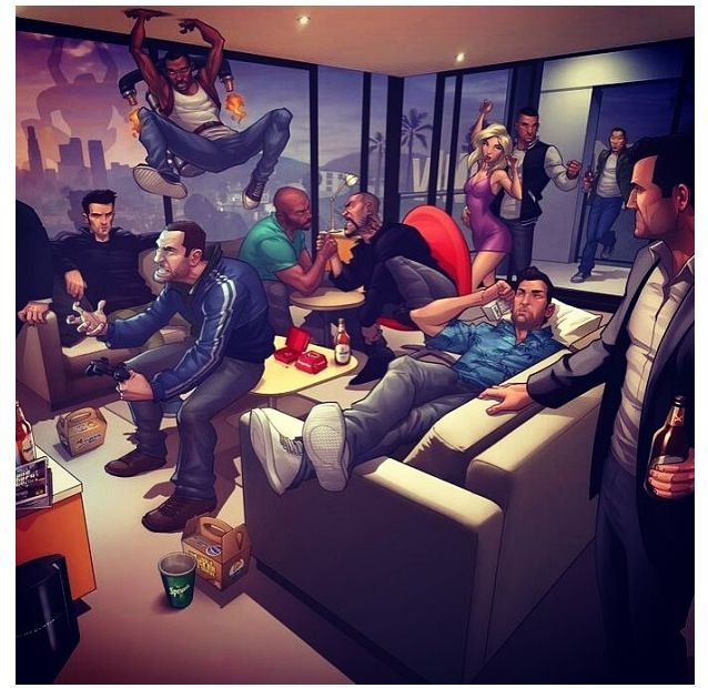 Amazing Grand Theft Auto Videogame Fan Art by Patrick Brown