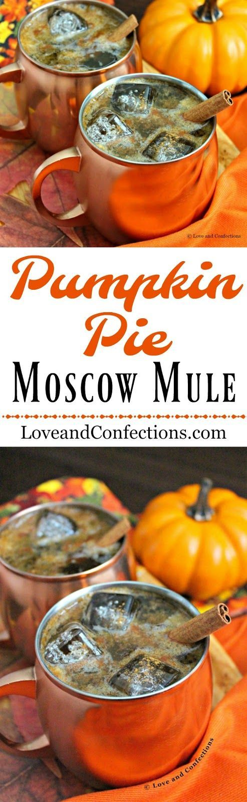 Pumpkin Pie Moscow Mule from LoveandConfections.com #PumpkinWeek