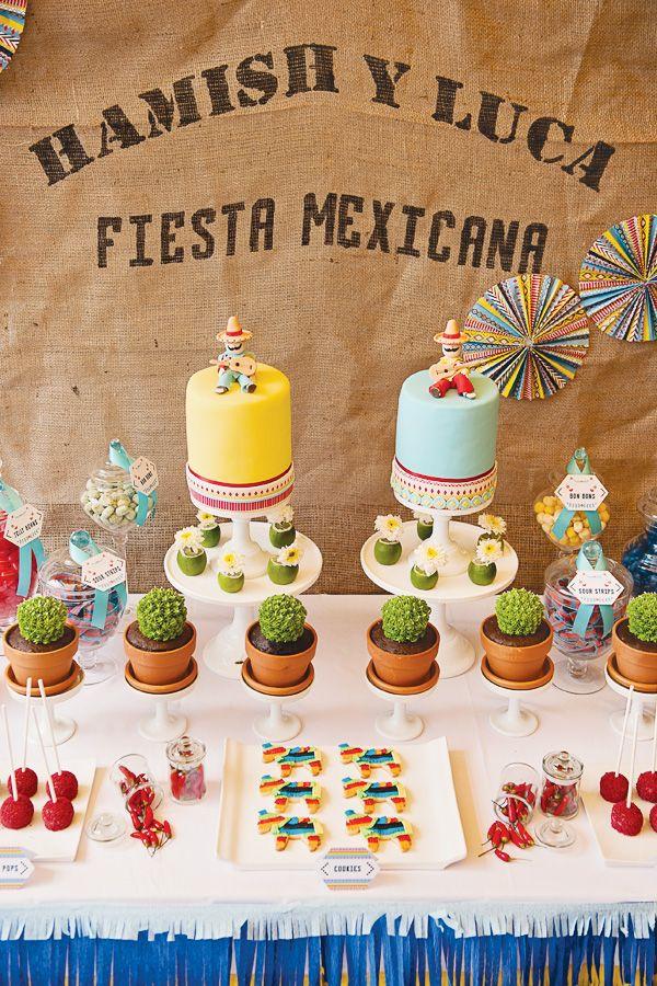 Uma mesa de doces encantadora. Para tornar a sua Festa Mexicana ainda mais especial! #festamexicana #doces #mesadedoces