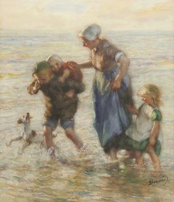 Bernardus Johannes Blommers (Den Haag 1845-1914) Bij de zee - Kunsthandel Simonis en Buunk, Ede (Nederland).