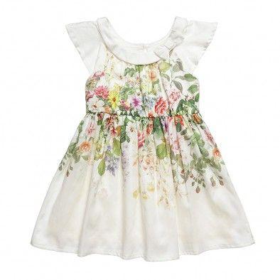 Ivory Floral Cotton Dress